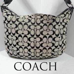 Coach Black and Grey Signature Bag